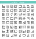 Abat-jour et nuances Protection de Sun Volets et panneau intérieurs brusques illustration stock