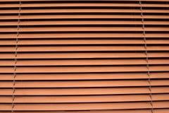 Abat-jour horizontaux de Brown étroits Photo libre de droits