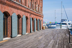 Abate a margem do cantão do ponto em Baltimore, Maryland Imagens de Stock
