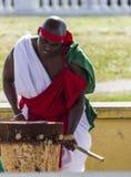 Abatimbo dobosze od Burundi, Afryka Zdjęcia Stock