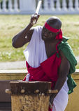 Abatimbo dobosze od Burundi, Afryka Obrazy Royalty Free