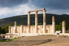 Abaton av Epidaurus, Grekland Fotografering för Bildbyråer