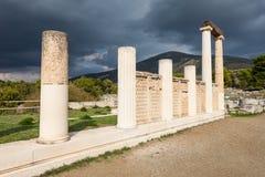 Abaton av Epidaurus, Grekland Arkivbild