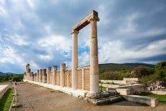 Abaton av Epidaurus, Grekland Arkivfoto
