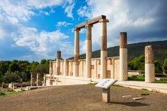 Abaton av Epidaurus, Grekland Royaltyfria Bilder