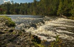 Abava vattenfall i Lettland Royaltyfria Bilder