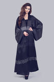 Abaya. Super model modeling for traditional Abaya dresses Royalty Free Stock Photo