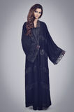 Abaya. Super model modeling for traditional Abaya dresses Royalty Free Stock Photos