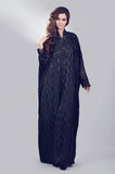 Abaya. Super model modeling for traditional Abaya dresses Stock Photos