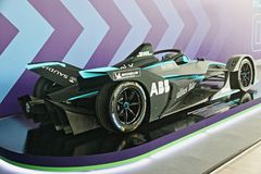 Abb Formula-E Championship in Rome. Formula E returns to the 2.84km Circuito Cittadino dell'EUR for the second time in the series history. The Circuito stock photos