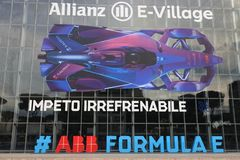 Abb Formula-E Championship in Rome. Formula E returns to the 2.84km Circuito Cittadino dell'EUR for the second time in the series history. The Circuito stock image