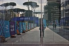 Abb Formula-E Championship in Rome. Formula E returns to the 2.84km Circuito Cittadino dell'EUR for the second time in the series history. The Circuito stock photo