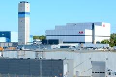 ABB-Hochspannungskabelfabrik Lizenzfreie Stockbilder