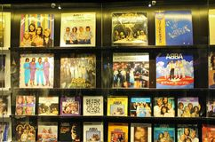 An ABBA das Museum in Stockholm Lizenzfreies Stockfoto