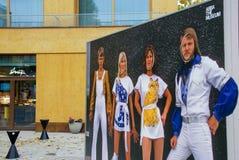 ABBA el museo, Estocolmo Imágenes de archivo libres de regalías