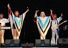 ABBA-Tribut-Band Lizenzfreie Stockfotos