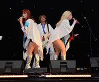 ABBA-Tribut-Band Stockfotos