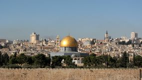 A abóbada da rocha em Temple Mount, Jerusalém, Israel Fotografia de Stock Royalty Free