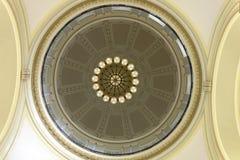 Abóbada interior do assoalho da rotunda da construção do Capitólio do estado de Arkansas em Little Rock Fotos de Stock