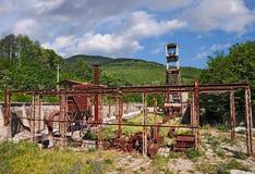 Abbadia San Salvatore, Siena, Italien: das verlassene Quecksilberbergwerk Lizenzfreie Stockfotografie