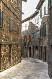 Abbadia San Salvatore Stockbild