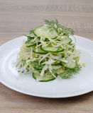 сabbage salad with cucumber Royalty Free Stock Images