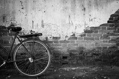 Abbandon bicycle. In ChiangKan urban of Thailand stock photos