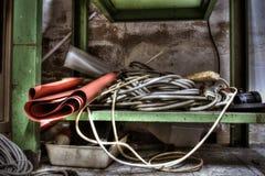 Abbandonato banco de di lavoro Fotografía de archivo libre de regalías