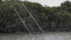 Abbandonato navigando yacht Fotografia Stock Libera da Diritti