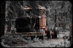 Abbandonato registrando camion in legno dell'Oregon Immagine Stock
