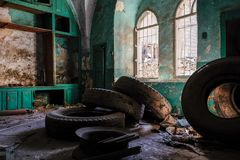 Abbandoned-Haus in Hebron Stockbilder