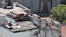 Abbandonedgebouwen stock videobeelden