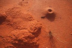 Abbandoni alto vicino della sabbia Immagine Stock