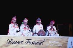Abbandoni il festival, 2018, Jaisalmer, Ragiastan, India immagine stock