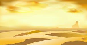 Abbandoni il fondo dell'illustrazione di arte di vettore del paesaggio delle dune Immagini Stock
