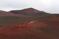 Abbandoni il paesaggio vulcanico di pietra a Lanzarote, isole Canarie Immagine Stock Libera da Diritti