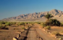 Abbandoni la strada in valle di Arava, Eilat, Israele Fotografia Stock