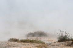 Abbandoni la terra vicino alla sorgente di acqua calda Rupite, Bulgaria Fotografia Stock Libera da Diritti