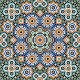 Abbas Seamless Pattern Five. Traditional Moorish Pattern Seamless Pattern stock illustration