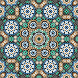 Abbas Seamless Pattern Three. Traditional Moorish Pattern Seamless Pattern Stock Images