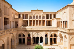 abbasian有历史的房子kashan的伊朗 库存照片