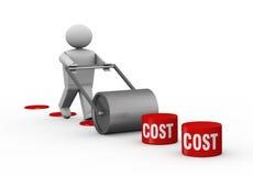 Abbassamento dei costi Fotografia Stock