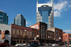 Abbassi Broadway, Nashville fotografia stock libera da diritti