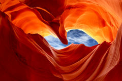 Abbassi il canyon dell'antilope, Arizona, U fotografie stock