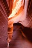 Abbassi il canyon della scanalatura dell'antilope Fotografie Stock
