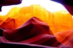 Abbassi il canyon n dell'antilope il pomeriggio Immagini Stock Libere da Diritti