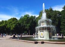 Abbassi il parco in Peterhof immagine stock libera da diritti