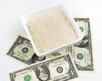 Abbassi il prezzo di riso Fotografia Stock