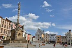 Abbassi il quadrato in Olomouc Immagine Stock
