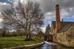 Abbassi il villaggio del macello nel Cotswolds l'inghilterra fotografia stock libera da diritti